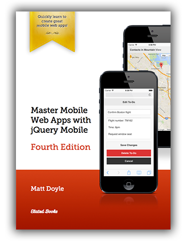 Master Mobile Web Apps with jQuery Mobile (Fourth Edition): Book Cover