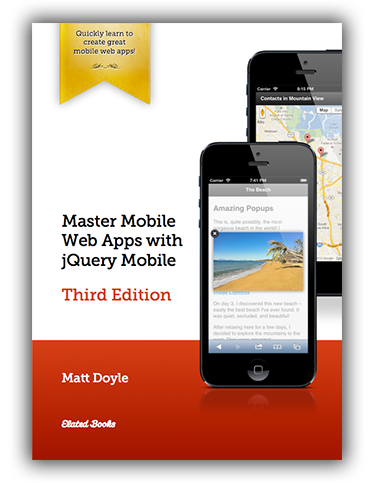Master Mobile Web Apps with jQuery Mobile (Third Edition): Book Cover